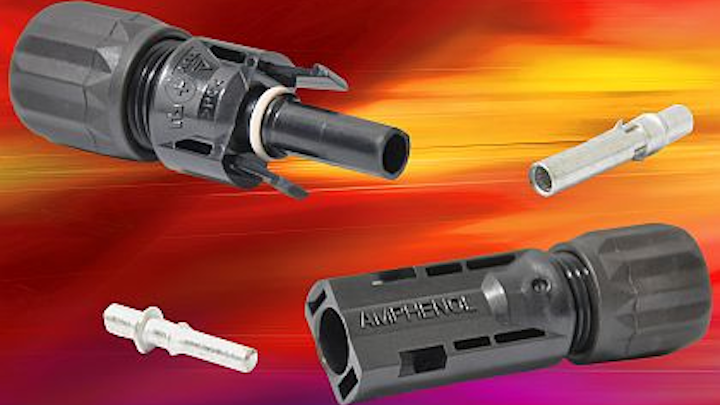 Amphenol gets UL certification for 1,000-volt capacity in company's Helios H4 PV power connector
