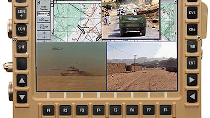 General Dynamics rugged display for combat vehicles can run classified and unclassified data