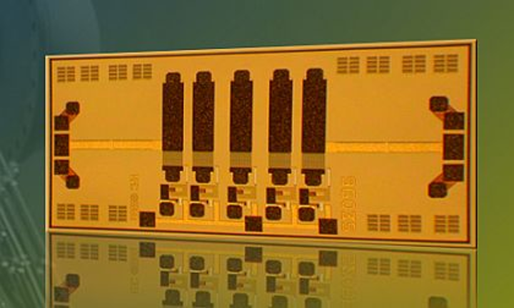 RF and microwave filter chip for pre-selection in military