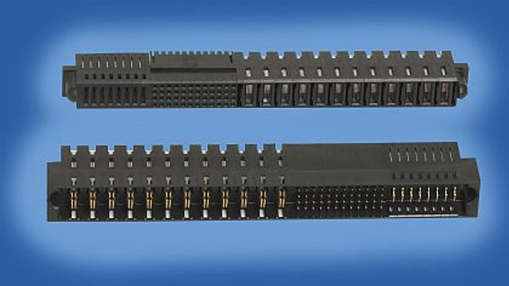 Power-distribution connectors for mobile communications equipment introduced by FCI