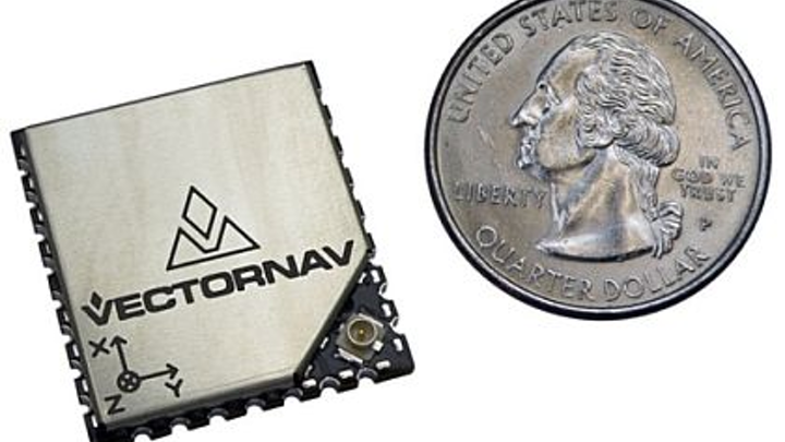 MEMS-based GPS/INS navigation and positioning sensor for UAVs and robotics introduced by VectorNav