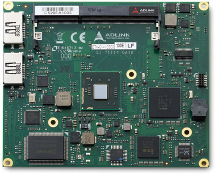 ETX computer on module for industrial automation and medical imaging introduced by ADLINK