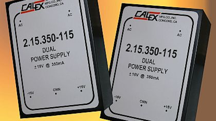 Low-noise linear power supply for 15-volt rail source applications introduced by Calex