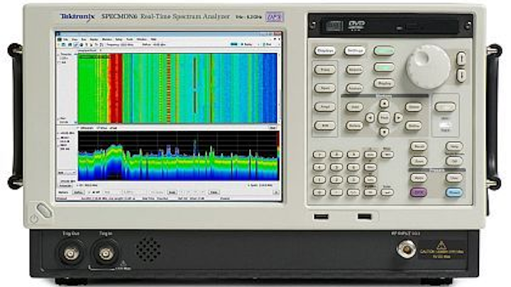 Spectrum analyzer for hunting down sources of RF interference in the field introduced by Tektronix