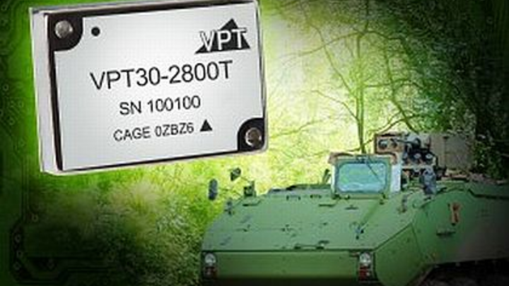Triple-output DC-DC converter to power electronics in military vehicles, ships, and weapons introduced by VPT