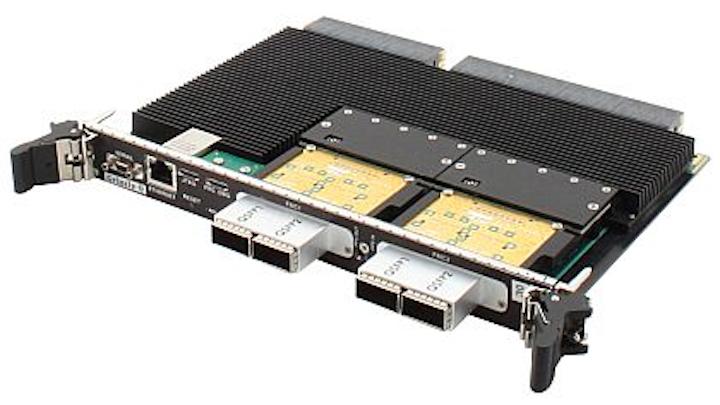 6U OpenVPX fiber optic I/O board for ISR sensor processing introduced by Mercury