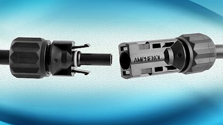 Power connector for large-scale utility PV installations introduced by Amphenol