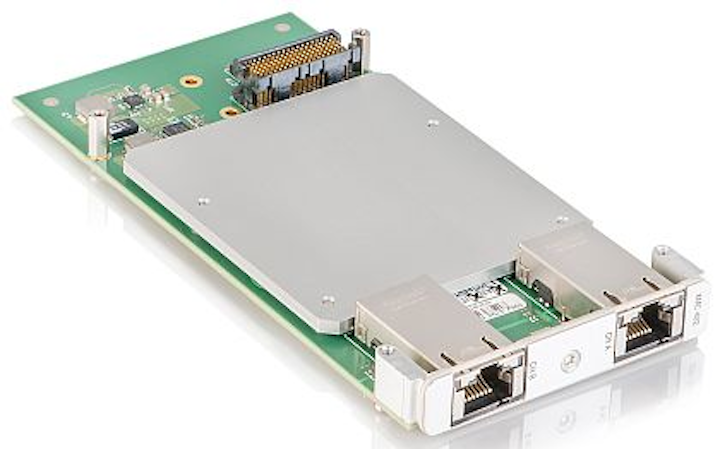 Dual-port 10 gigabit mezzanine card for military applications introduced by Kontron