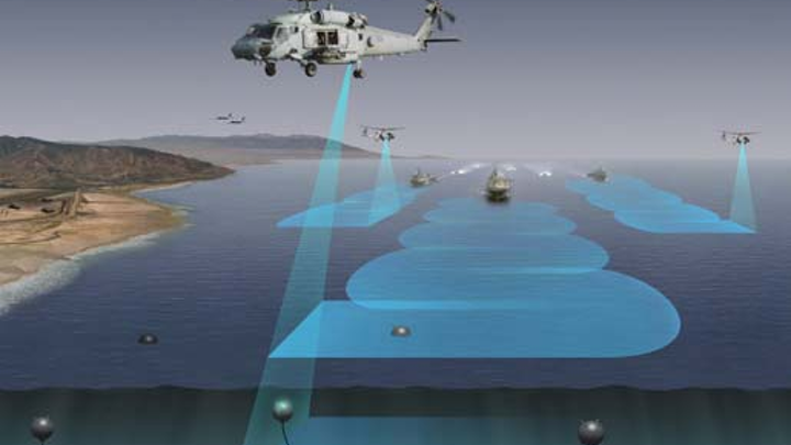 Navy surveys industry for technologies able to detect sea mines quickly from helicopters