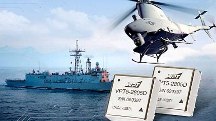 Dual-output DC-DC power converter for unmanned vehicles, ships, and vehicles introduced by VPT