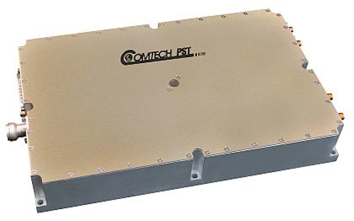 GaN amplifier for S-band and phased-array radar applications introduced by Comtech PST