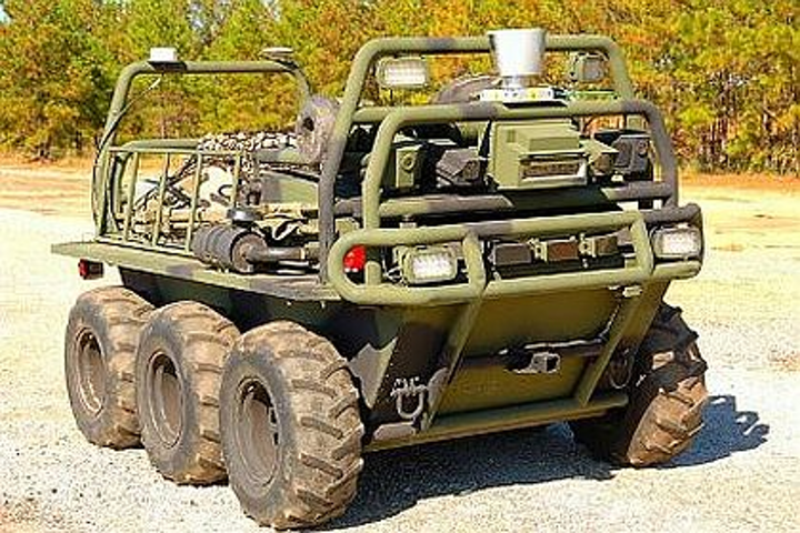 Lockheed Martin demonstrates remote satellite control of UGV in battlefield conditions
