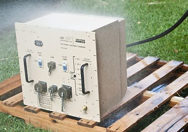 Rugged mobile DC power rectifier for powering military electronics introduced by API