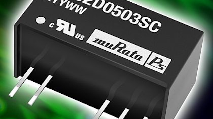 Encapsulated compact through-hole 2-Watt DC-DC converters introduced by Murata