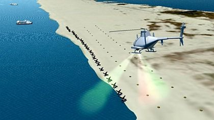 Laser-based UAV sensor payload for detecting beach mines to be designed by BAE Systems