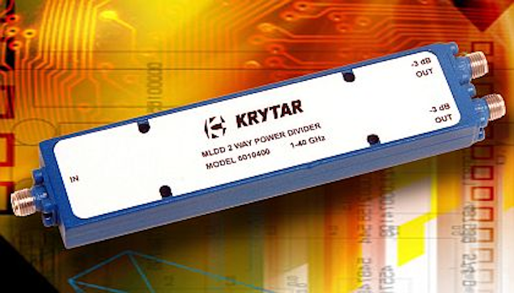 Compact power divider for broadband electronic warfare (EW) introduced by KRYTAR