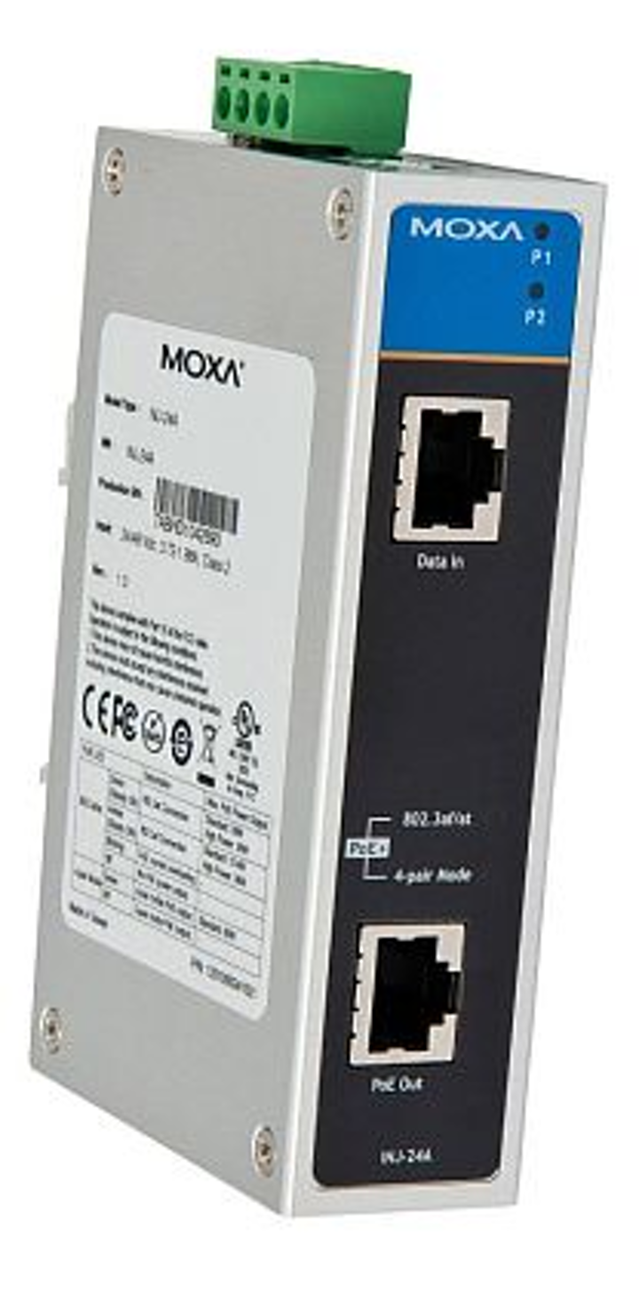Rugged Power Over Ethernet-Plus that delivers as much power as 60 Watts introduced by Moxa