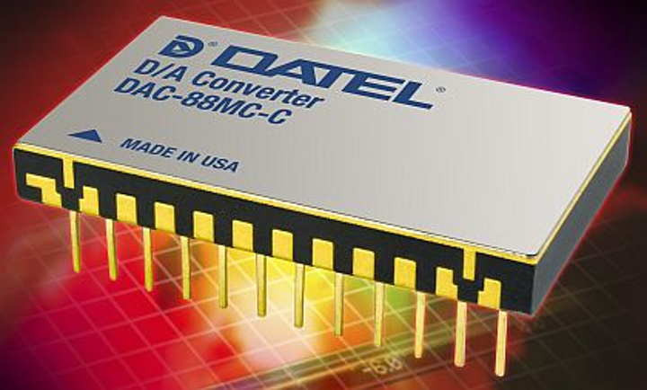 Rugged D/A converter for aerospace and defense fast-analog uses introduced by DATEL