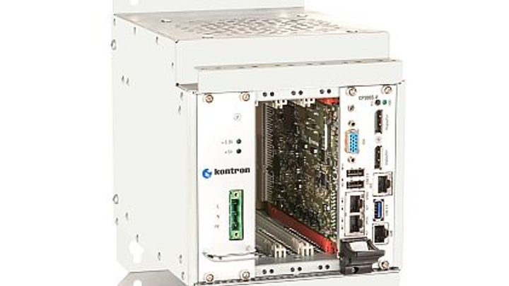 Customizable 3U CompactPCI rackmount computer for industrial automation introduced by Kontron