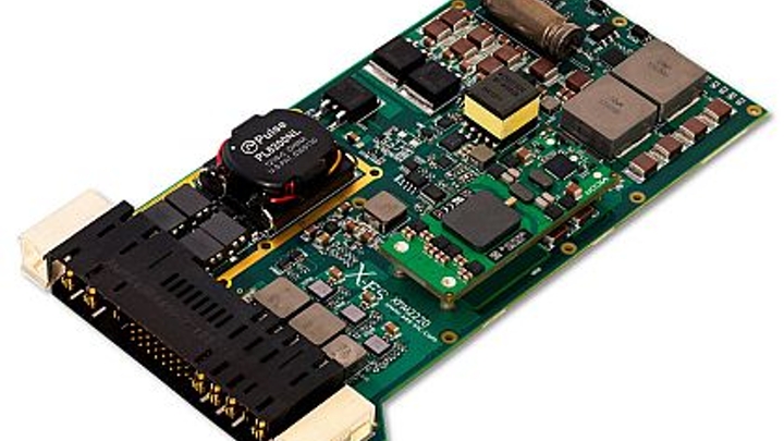 3U VPX embedded computing power supply for aerospace and defense introduced by X-ES