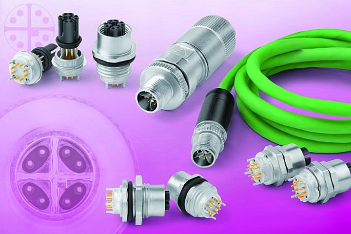 Rugged 8-pin X-coded connectors for demanding industrial applications introduced by Binder-USA