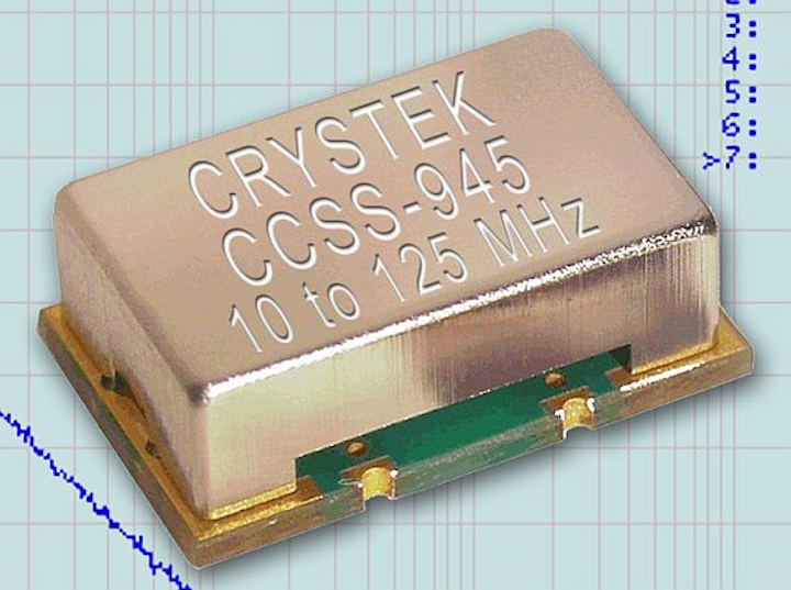 True sinewave clock oscillators for low-noise RF performance introduced by Crystek Crystals Corp.