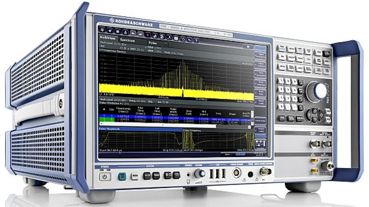 Spectrum analyzers for radar development and digital communications offered by Rohde & Schwarz
