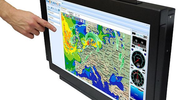 Rugged 24-inch display for military and marine applications introduced by Small PC