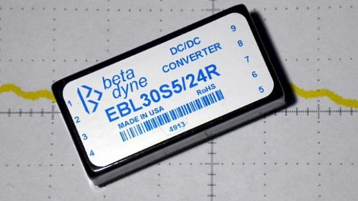 DC-DC power converters for data acquisition, test, and medical applications offered by Beta Dyne