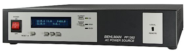 AC power source, frequency converter, and inverter for military uses introduced by Behlman