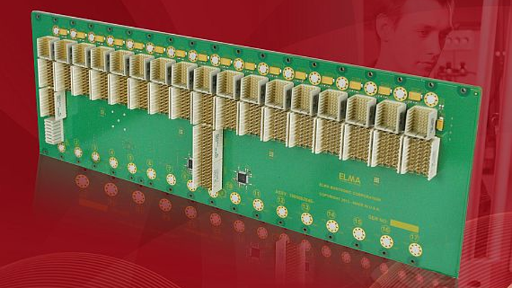3U 17-slot PXI Express backplane for test and measurement introduced by Elma Bustronic