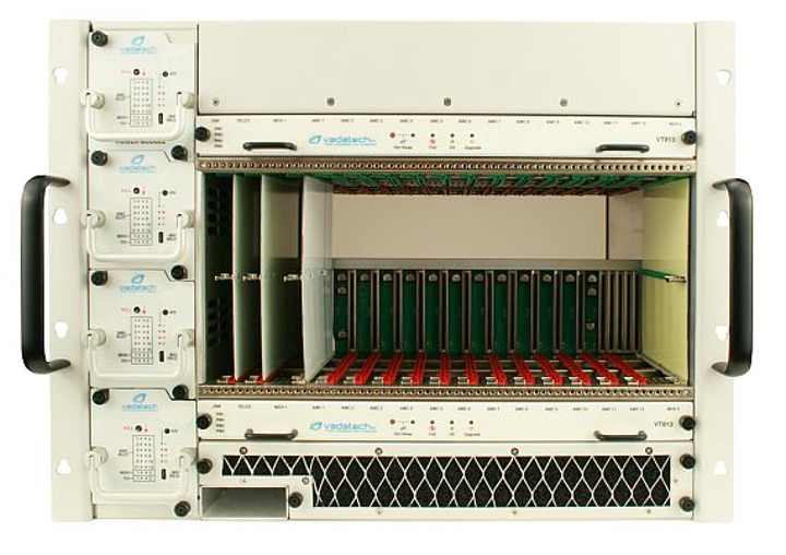 MicroTCA.4 electronic chassis with N+1 redundant power to 4400 Watts introduced by VadaTech