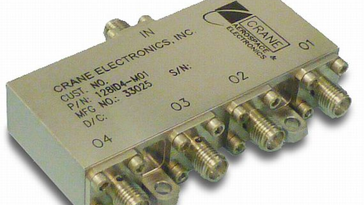 Four-way Iso-divider from Crane combines power and isolators on one package for satellite uses