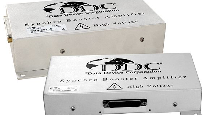 Synchro booster amplifier for shipboard electronics applications introduced by DDC