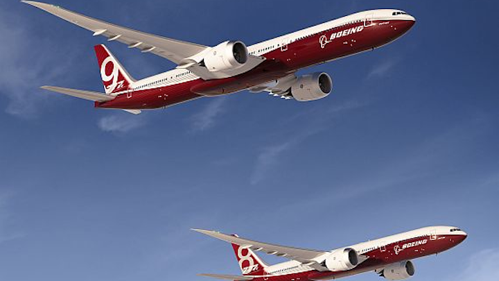 Rockwell Collins to provide fly-by-wire control for next-generation Boeing 777 jumbo jet