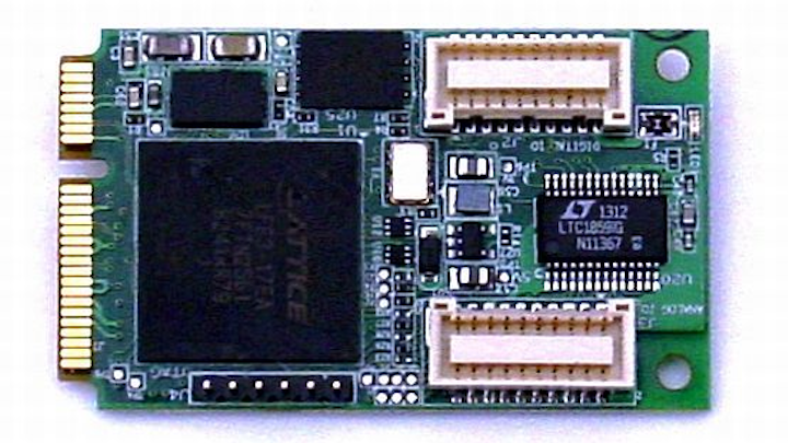 Rugged data acquisition PCI Express Mini card for sonar and laser control offered by Diamond