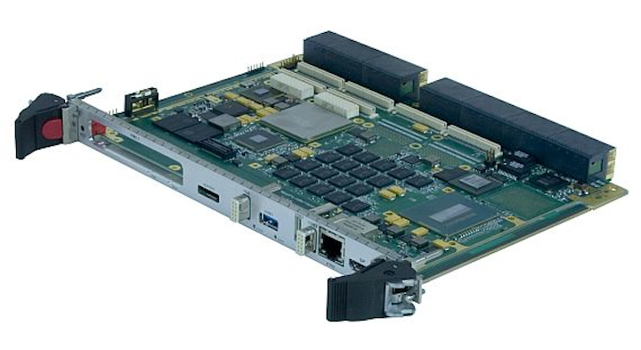 Rugged 6U VPX single board computer for unmanned vehicles, radar, and sonar introduced by GE