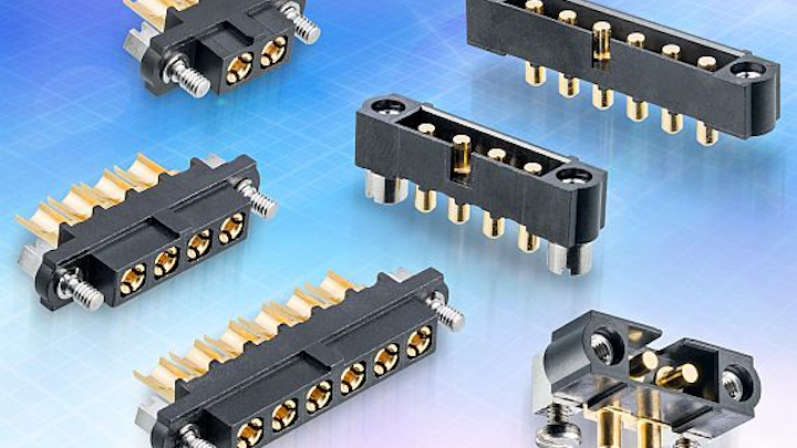 Harwin doubles current rating of high-rel power connectors for aerospace applications