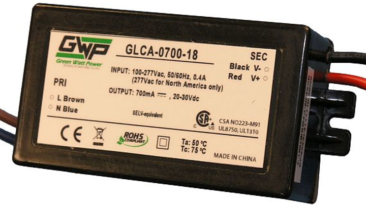 18 Watt LED power supplies for space-constrained applications introduced by Green Watt