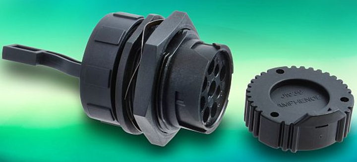 Circular connector with a small flange to fit heavy equipment vehicles introduced by Amphenol