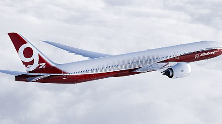 Crane to provide power conditioning and batteries for Boeing 777X passenger jet flight control