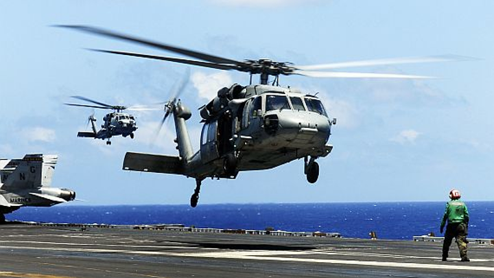 Navy nearing end of competition to develop helicopter-based EW to protect ships from missiles