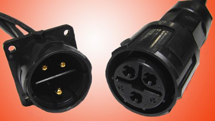 Weather- and water resistant circular power connectors for outdoor uses introduced by Hirose