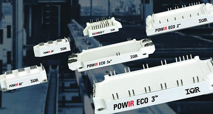 IGBT power electronics modules introduced by IR for high-power industrial applications