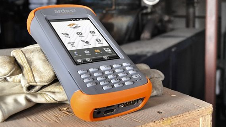 Rugged handheld computer that operates in flammable gases and vapors introduced by Juniper Systems