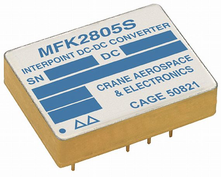 25-Watt DC-DC converter for military, aerospace, and high-reliability introduced by Crane