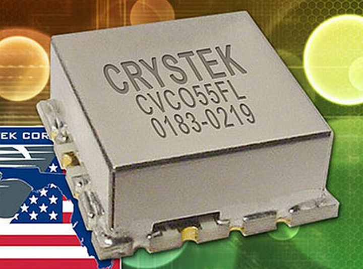 VCO for RF and microwave applications like SATCOM and base stations introduced by Crystek