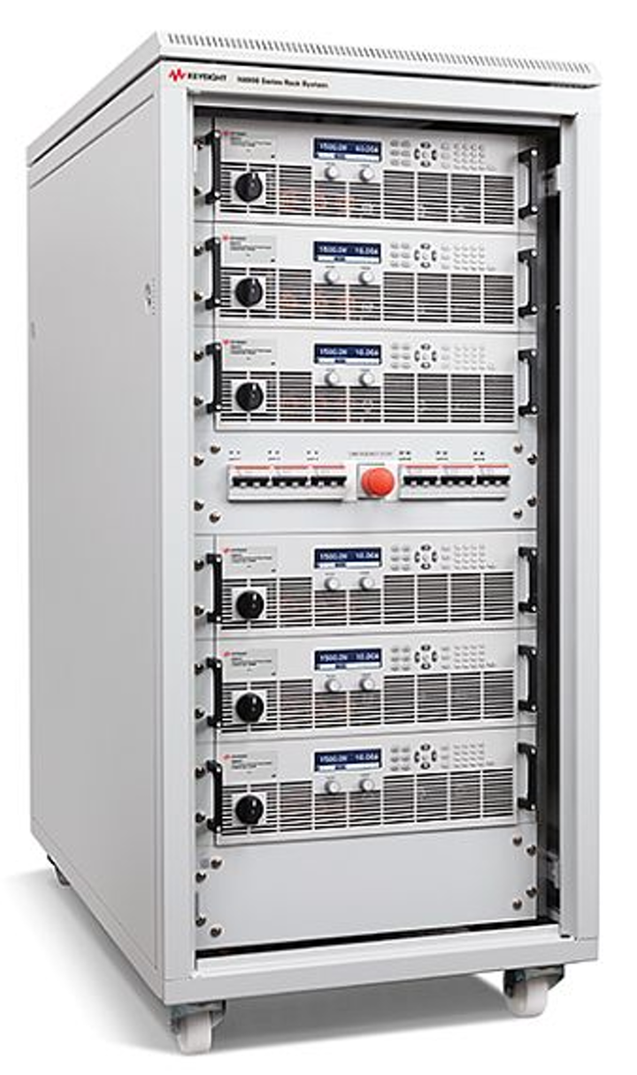 Power electronics rack system for high-power DC applications introduced by Keysight