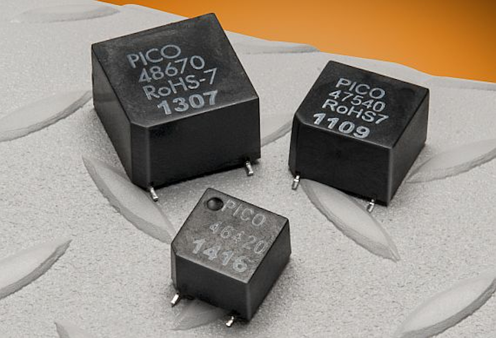 Common-mode inductors for use with AC-DC and DC-DC converters with limited space offered by Pico