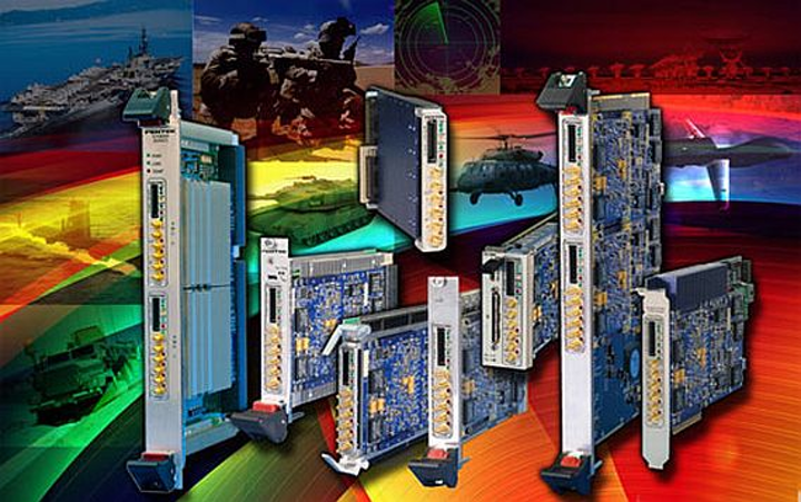 Dual-channel, 34 signal, adaptive IF relay XMC for military embedded computing introduced by Pentek